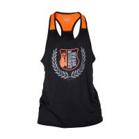 "Майка для бодибилдинга Gorilla Wear ""Lexington"" Tank Top, черно-оранжевая"