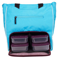 Сумка 6 Six Pack Fitness Camille Tote BLUE/WINE (синяя/бордовая)
