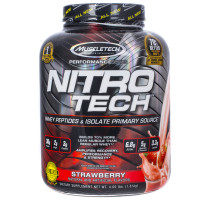 Протеин Muscletech Nitro Tech, клубника, 1800 г