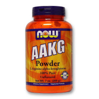 Аргинин NOW AAKG Pure Powder 200 г.